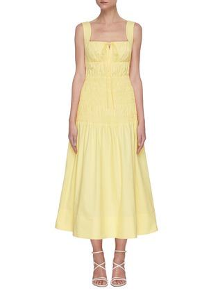Main View - Click To Enlarge - SELF-PORTRAIT - Polka dot poplin dress