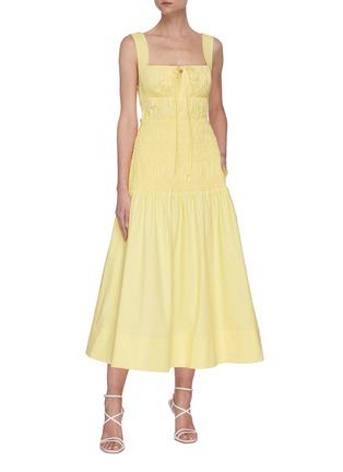 Figure View - Click To Enlarge - SELF-PORTRAIT - Polka dot poplin dress