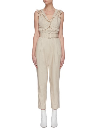 Main View - Click To Enlarge - SELF-PORTRAIT - Broderie sleeveless cotton jumpsuit