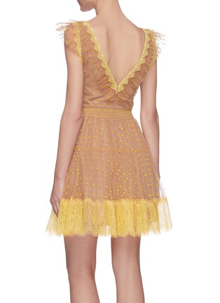 Back View - Click To Enlarge - SELF-PORTRAIT - Polka dot lace tea dress