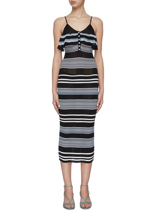 Main View - Click To Enlarge - SELF-PORTRAIT - Multi Stripe Cami Dress