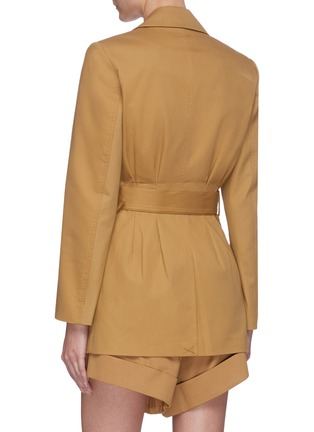 Back View - Click To Enlarge - SELF-PORTRAIT - Camel canvas belted jacket