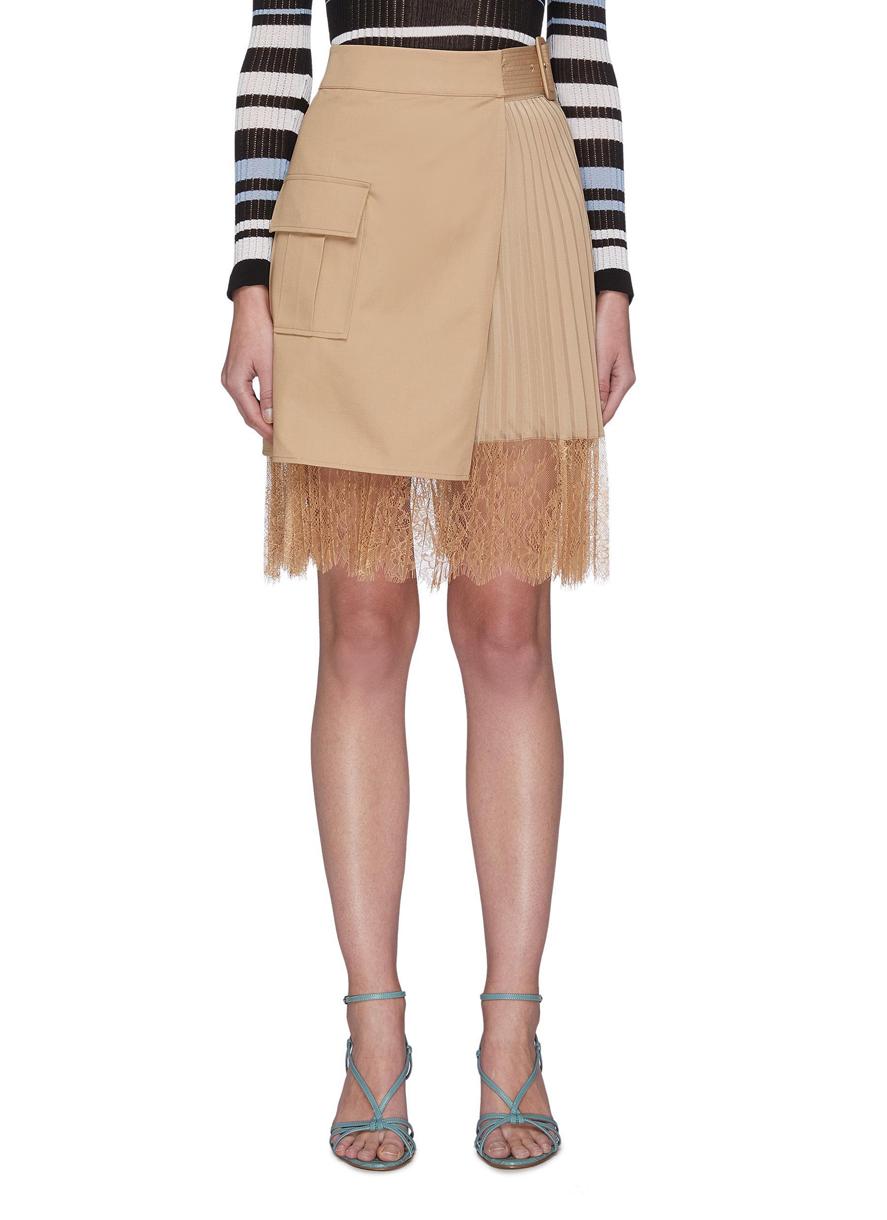 Buy Self-Portrait Skirts Canvas Wrap Mini Skirt
