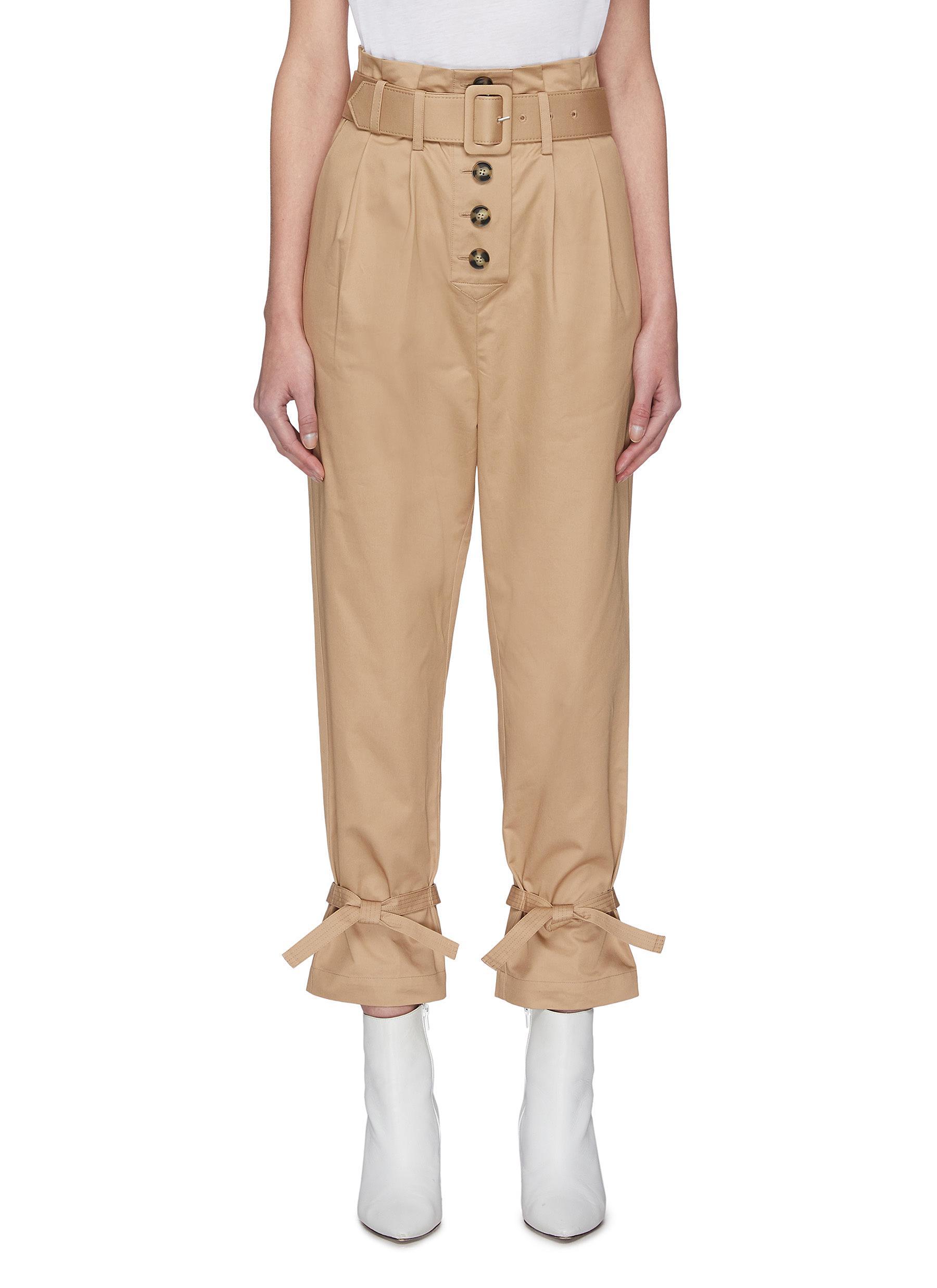 Buy Self-Portrait Pants & Shorts Canvas Peg Pants