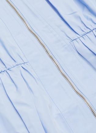 - SELF-PORTRAIT - Puff sleeve lace trim midi dress