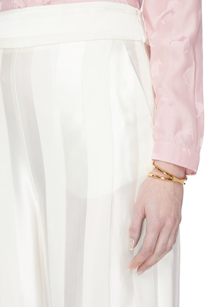 Figure View - Click To Enlarge - W. BRITT - 'X' 18k gold bracelet