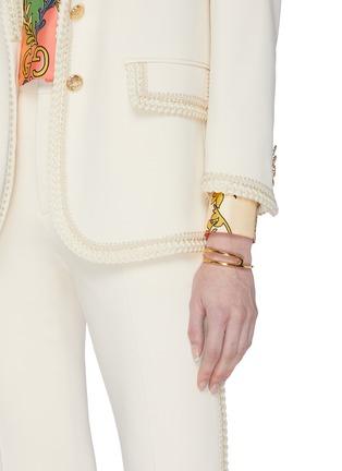 Figure View - Click To Enlarge - W. BRITT - 'P' 18k gold bracelet