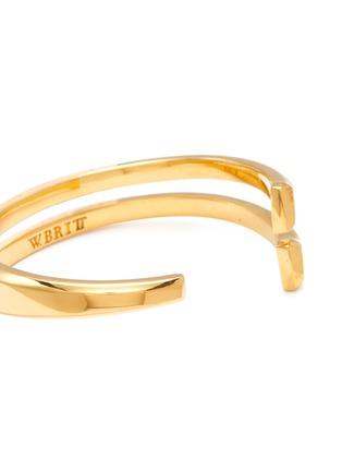 Detail View - Click To Enlarge - W. BRITT - 'V' 18k gold bracelet