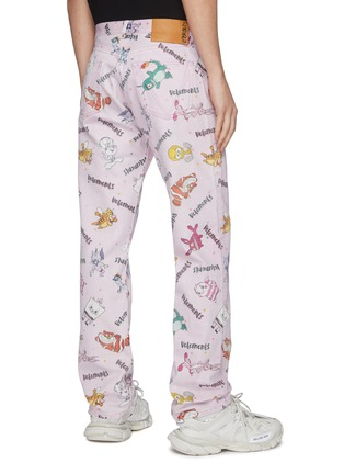 Back View - Click To Enlarge - VETEMENTS - 'Comic' graphic logo print jeans