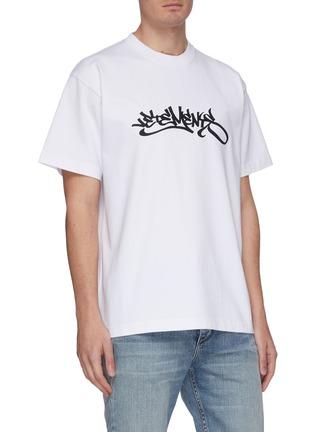 Front View - Click To Enlarge - VETEMENTS - Graffiti logo print T-shirt