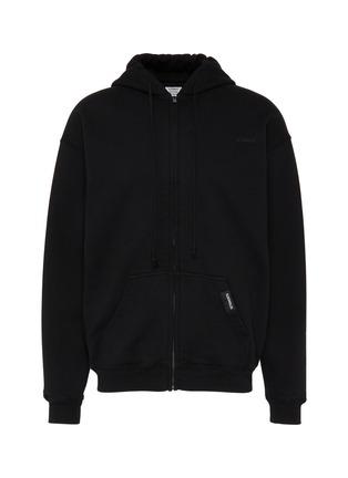 Main View - Click To Enlarge - VETEMENTS - 'Shut Up' slogan print zip hoodie