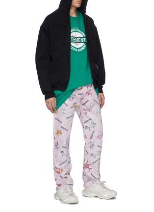 Figure View - Click To Enlarge - VETEMENTS - 'Shut Up' slogan print zip hoodie