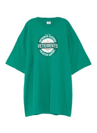 Main View - Click To Enlarge - VETEMENTS - 'Beer badge' logo print T-shirt