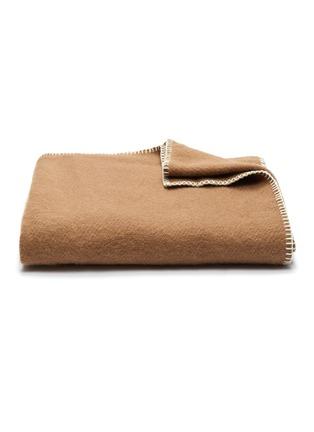 Main View - Click To Enlarge - TEKLA - Pure New Wool Blanket – Hazel Brown