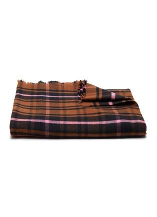 Main View - Click To Enlarge - TEKLA - Fine Merino Blanket – Tartan