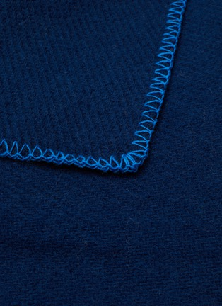 Detail View - Click To Enlarge - TEKLA - Pure New Wool Blanket – Electric Blue
