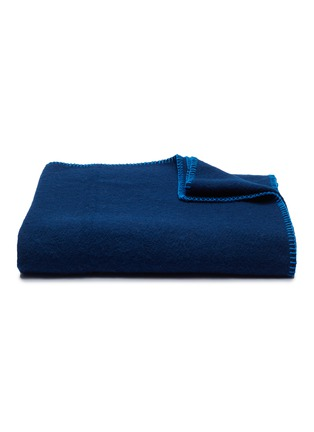 Main View - Click To Enlarge - TEKLA - Pure New Wool Blanket – Electric Blue