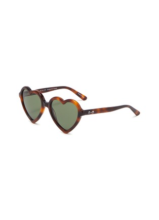 Main View - Click To Enlarge - SONS + DAUGHTERS - 'Lola' heart frame kids sunglasses
