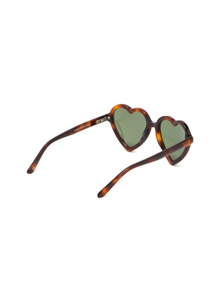 Figure View - Click To Enlarge - SONS + DAUGHTERS - 'Lola' heart frame kids sunglasses