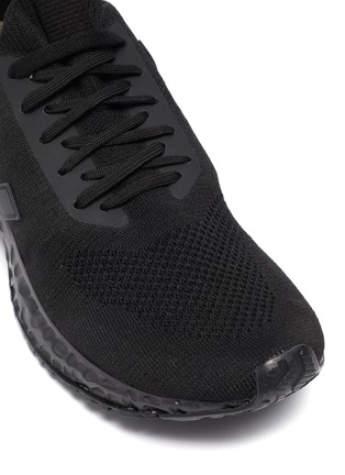 Detail View - Click To Enlarge - RICK OWENS X VEJA - Lace up knit sneakers