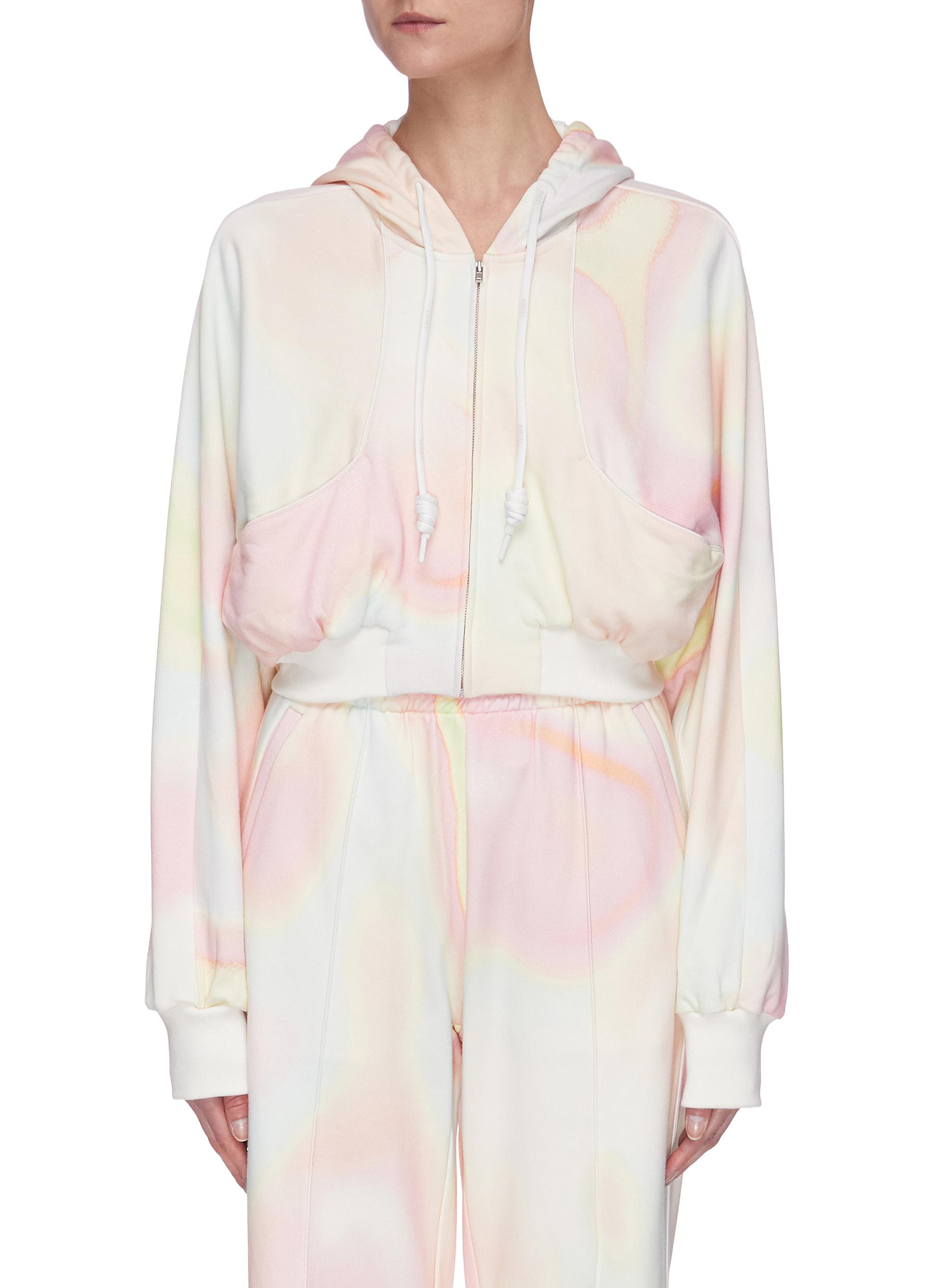 Buy Angel Chen Tops Holographic Print Crop Hoodie
