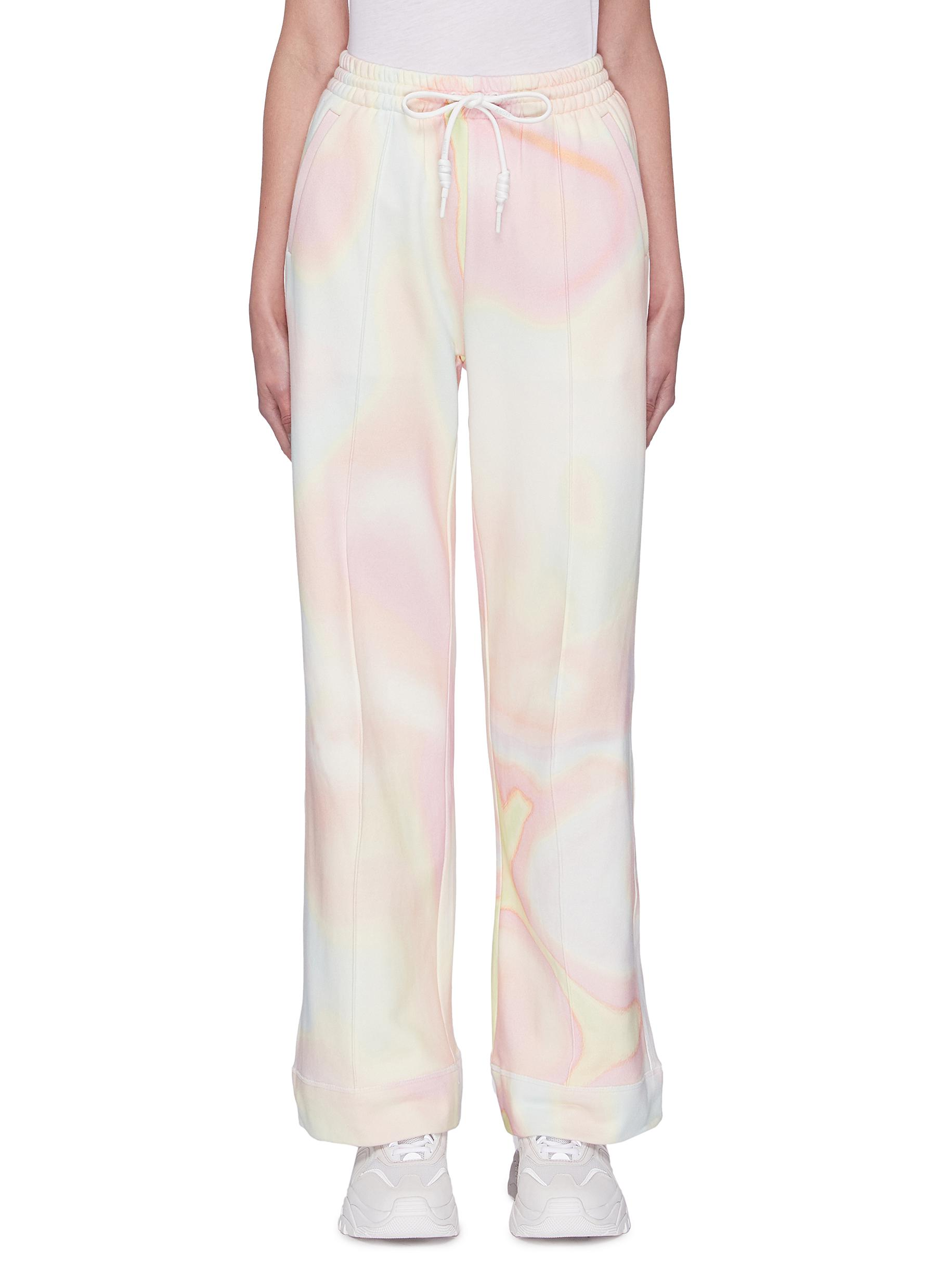 Buy Angel Chen Pants & Shorts Holographic Print Sweatpants