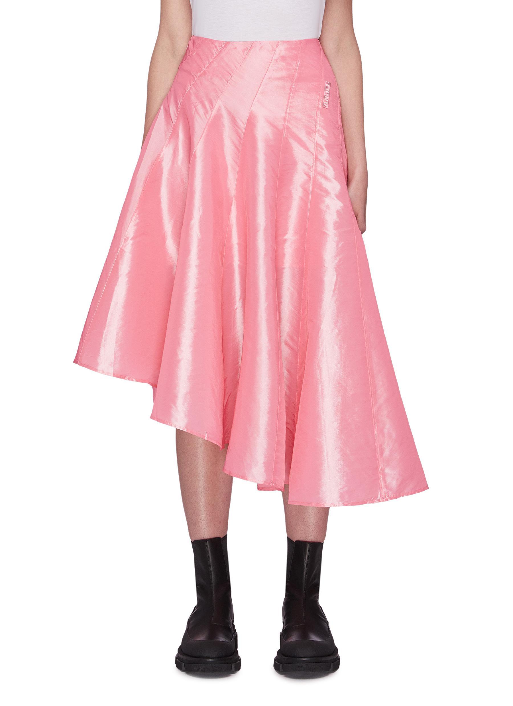 Buy Angel Chen Skirts Draped Asymmetric Hem Skirt