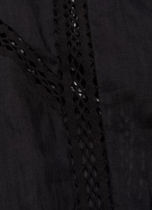 - FRAME DENIM - Lace Panel Off Shoulder Dress