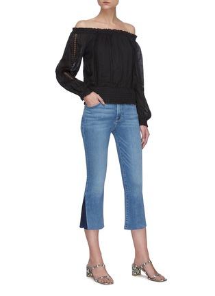 Figure View - Click To Enlarge - FRAME DENIM - Lace Panel Off Shoulder Dress