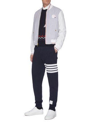 Figure View - Click To Enlarge - THOM BROWNE - Dolphin embroidered sweatshirt