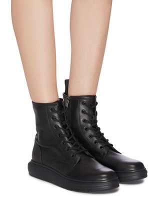 Figure View - Click To Enlarge - PEDDER RED - 'Ken' leather combat boots