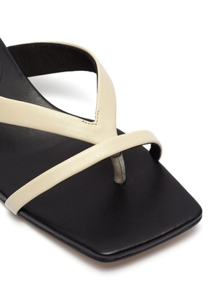 Detail View - Click To Enlarge - PEDDER RED - 'Conan' leather thong sandals