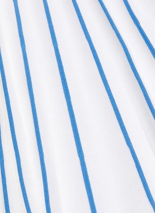 - THOM BROWNE - Accordion below the knee contrast stripe pleated midi skirt