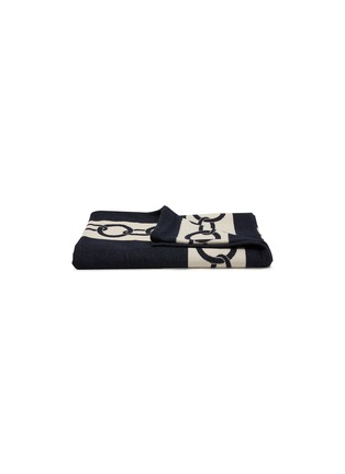 Main View - Click To Enlarge - FRETTE - Chains Throw – Navy/Savage