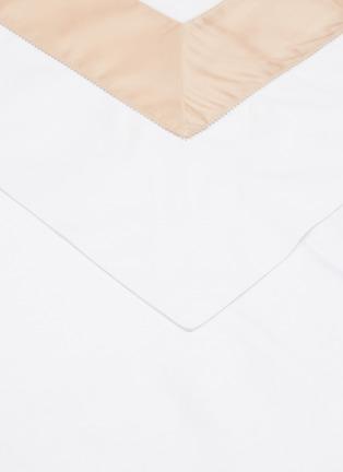 Detail View - Click To Enlarge - FRETTE - Bicolore King Size Duvet Set – Powder Pink