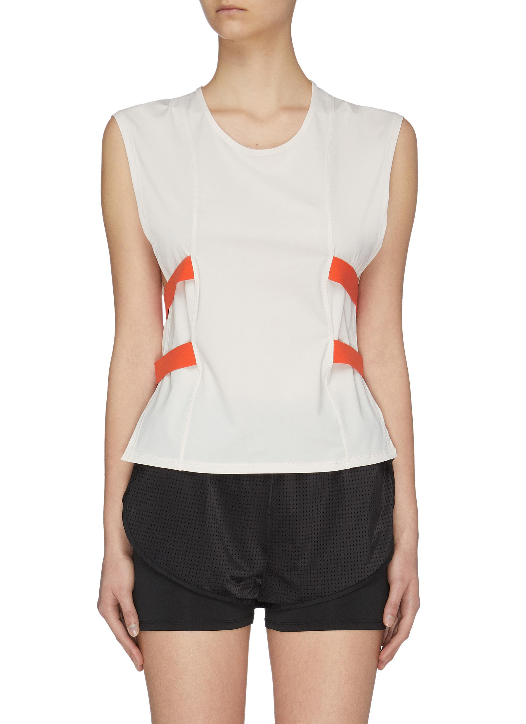 Buy Particle Fever Tops Quick-dry Elastic Strip Side Closure Tank Top