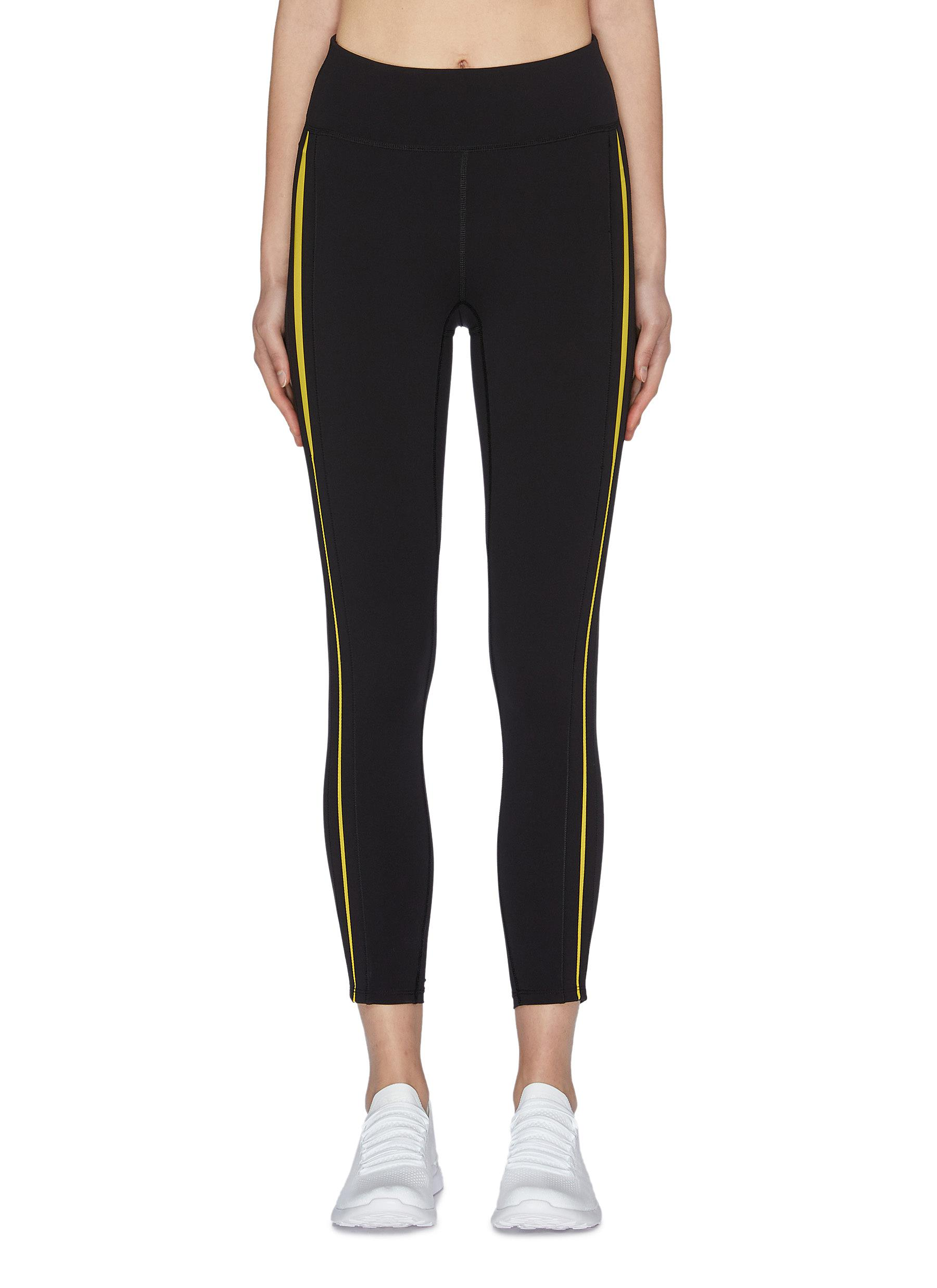 shop Particle Fever Quick-dry Contrasted Side Strip Leggings online