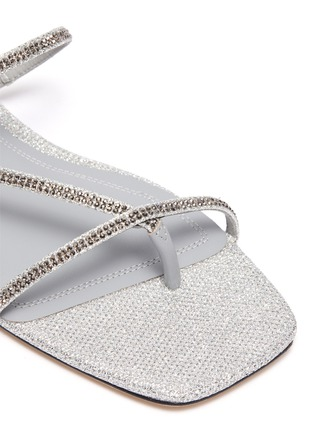 Detail View - Click To Enlarge - PEDDER RED - 'Calvina' strass embellished strappy sandals