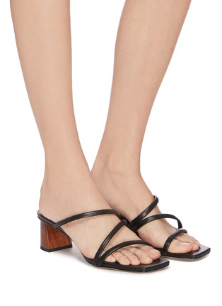 Figure View - Click To Enlarge - PEDDER RED - 'Alfonso' strappy square toe sandals