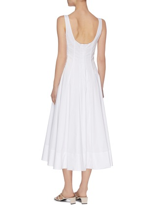 Back View - Click To Enlarge - STAUD - 'Wells' square neck sleeveless pleated maxi dress