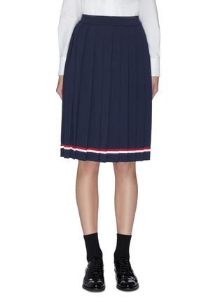 Main View - Click To Enlarge - THOM BROWNE - Contrast stripe pleated skirt