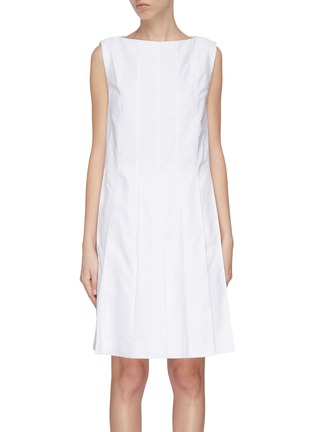 Main View - Click To Enlarge - THOM BROWNE - Pleated Oxford dress
