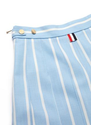 - THOM BROWNE - Banker stripe pleated mini skirt