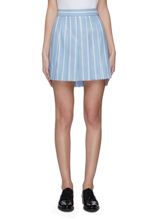 Main View - Click To Enlarge - THOM BROWNE - Banker stripe pleated mini skirt