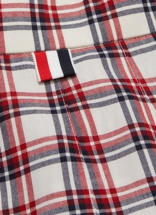 - THOM BROWNE - Drop Back Tattersall Check Mini Skirt