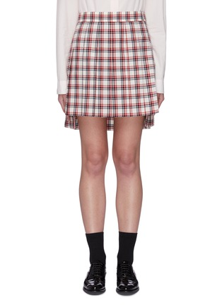 Main View - Click To Enlarge - THOM BROWNE - Drop Back Tattersall Check Mini Skirt