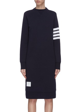 Main View - Click To Enlarge - THOM BROWNE - Stripe sleeve sweater dress
