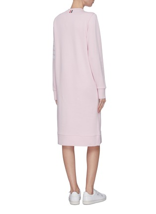 Back View - Click To Enlarge - THOM BROWNE - Stripe sleeve sweater dress