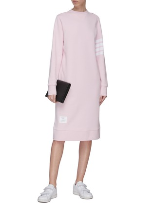 Figure View - Click To Enlarge - THOM BROWNE - Stripe sleeve sweater dress