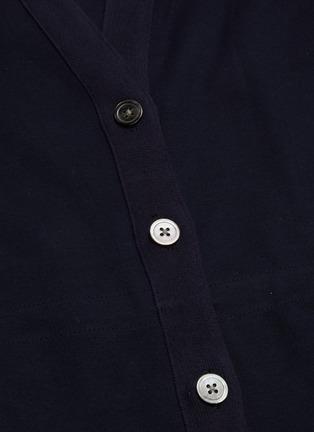 - THOM BROWNE - Drawcord waist long V-neck cardigan